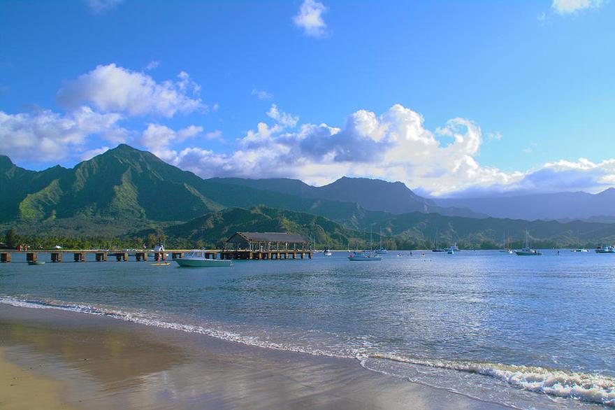 Baie de Hanalei à Hawaii