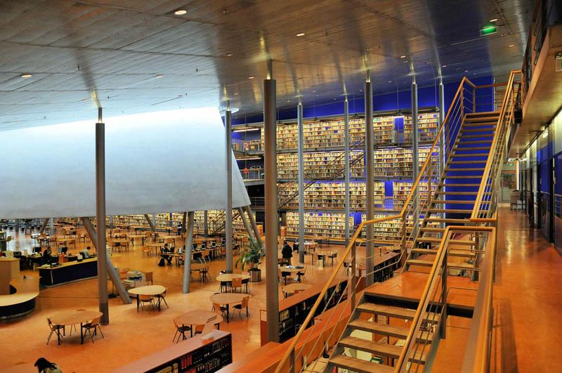 Bibliothèque Delft aux Pays-Bas
