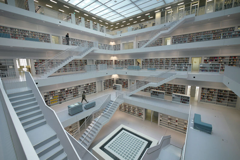 Bibliothèque de Stuttgart en Allemagne