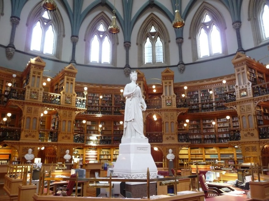 Bibliothèque du Parlement, Ottawa au Canada