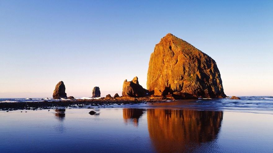 Cannon Beach dans l'Oregon aux Etats-Unis