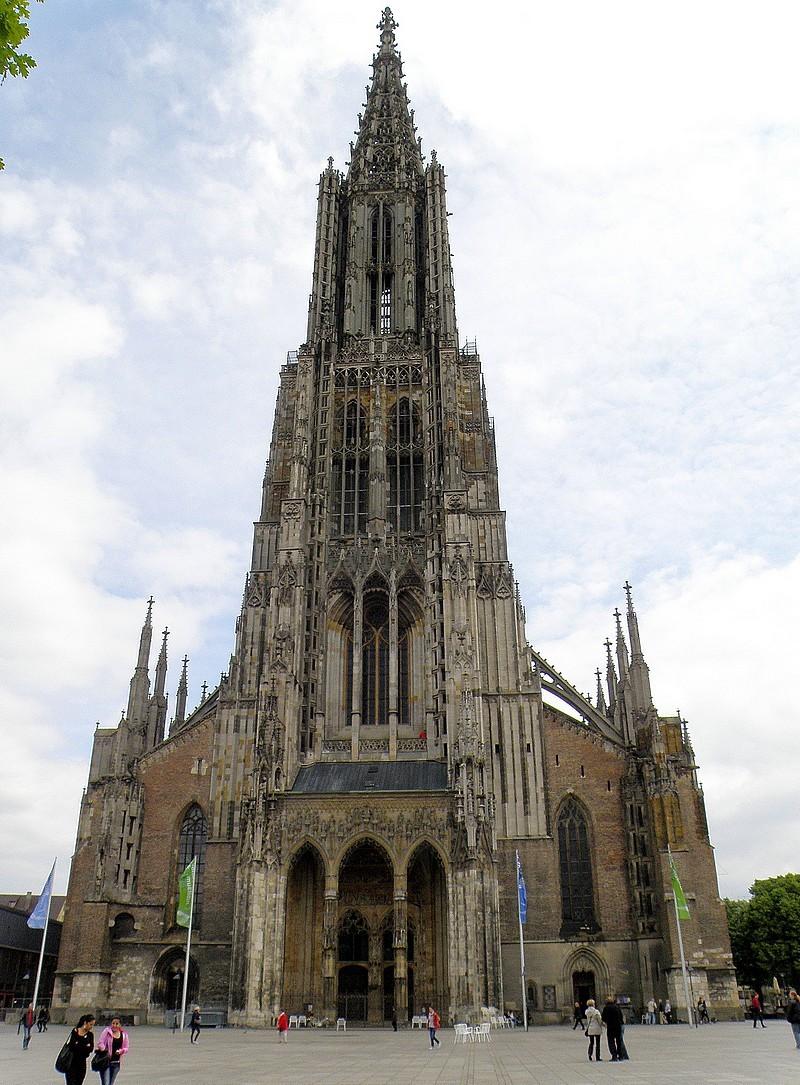 Cathédrale de la ville d'Ulm en Allemagne