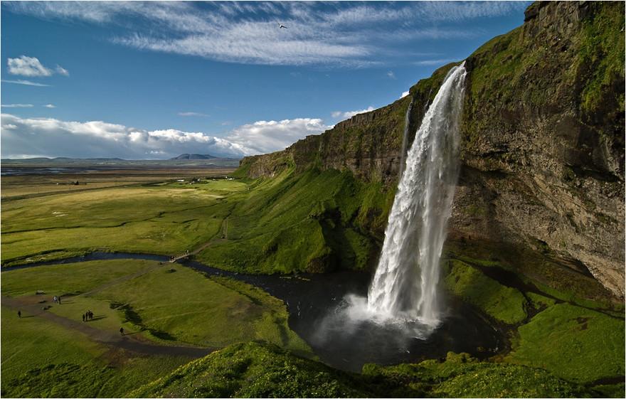 Chutes de Seljalandsfoss en Islande