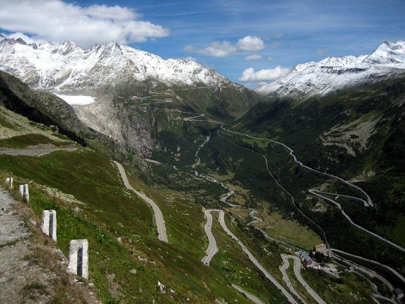 Col de la Furka en Suisse