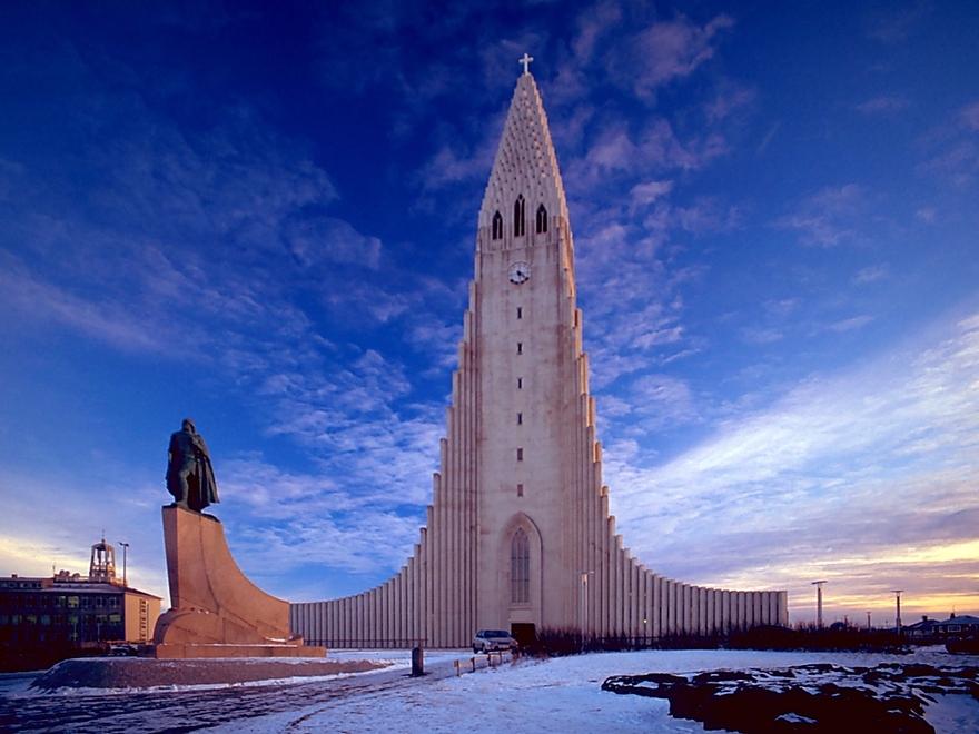 Eglise Hallgrimskirkja en Islande