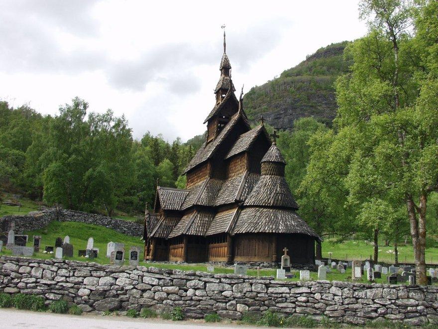 L'église de Borgund en Norvège