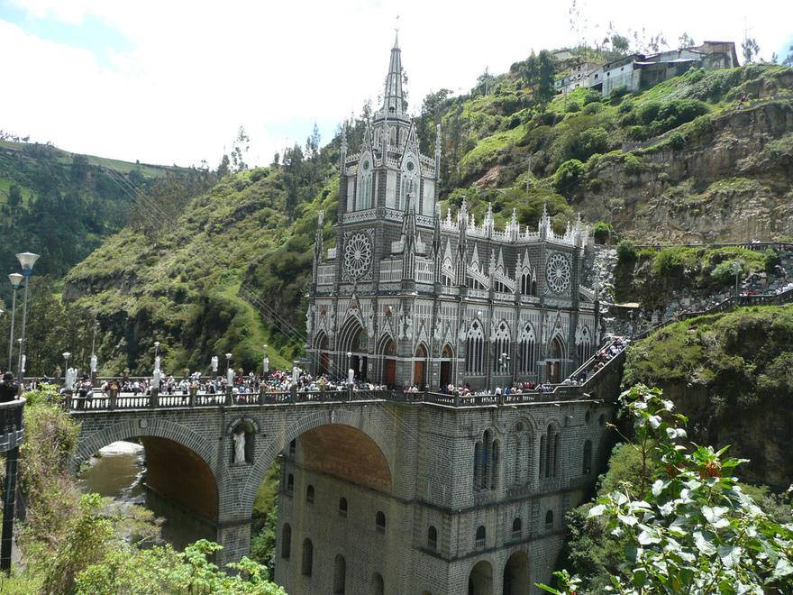 L'église de Las Lajas, Colombie