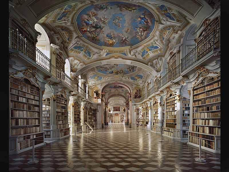 La bibliothèque de l'abbaye d'Admont en Autriche