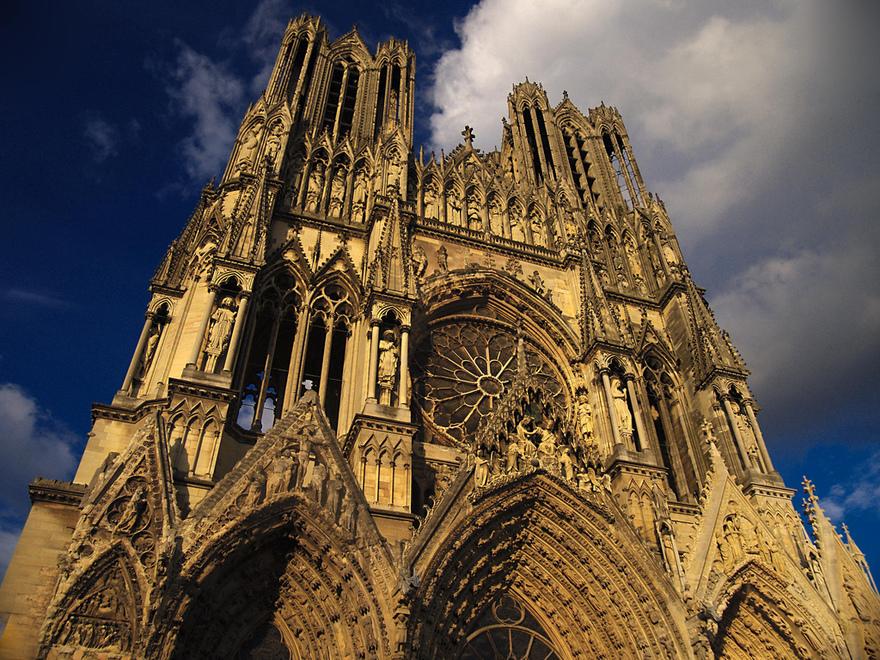 La cathédrale Notre-Dame de Reims en France