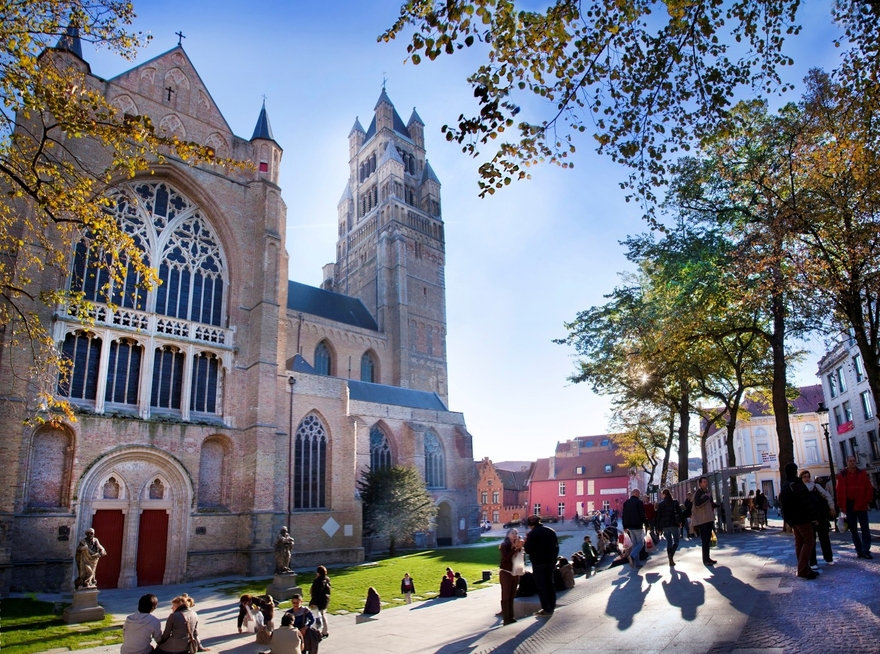 La cathédrale Saint-Sauveur de Bruges