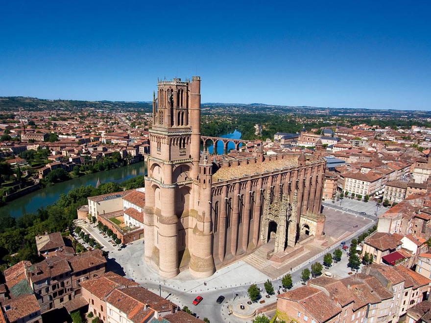 La cathédrale Sainte-Cécile d'Albi en France