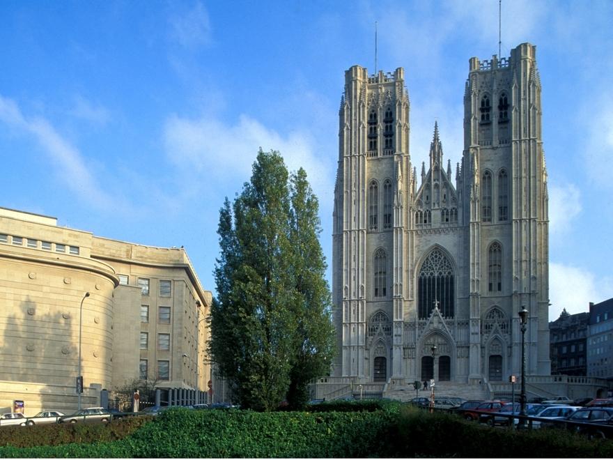 La cathédrale Saints-Michel-et-Gudule e Bruxelles