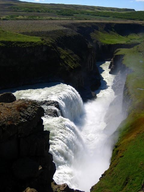 La chute Gullfoos en Islande