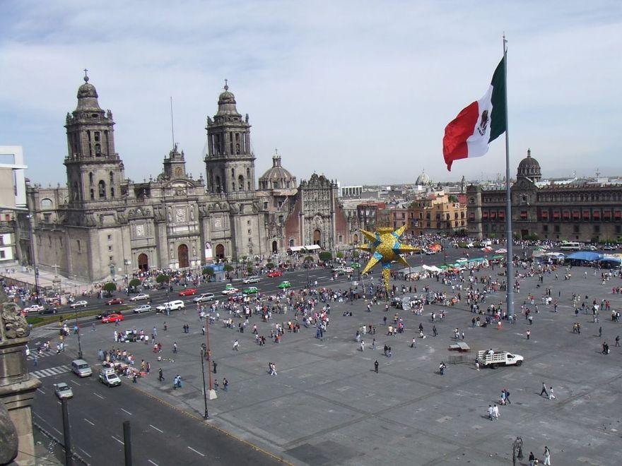 La Place Zocalo à Mexico