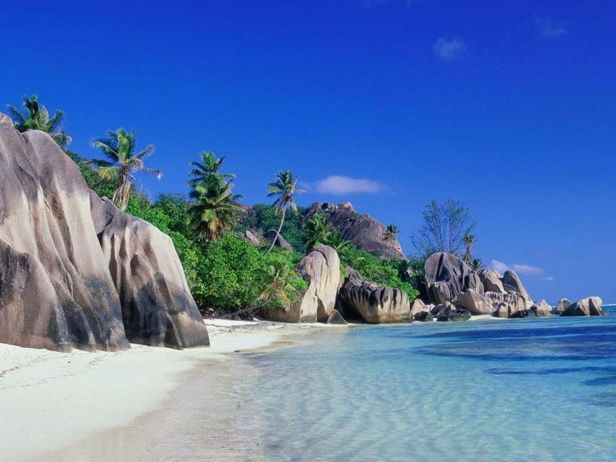 La plage des Seychelles