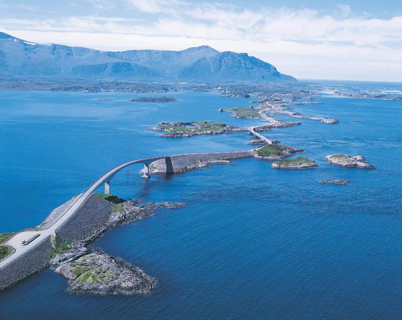 La route de l'Atlantique en Norvège