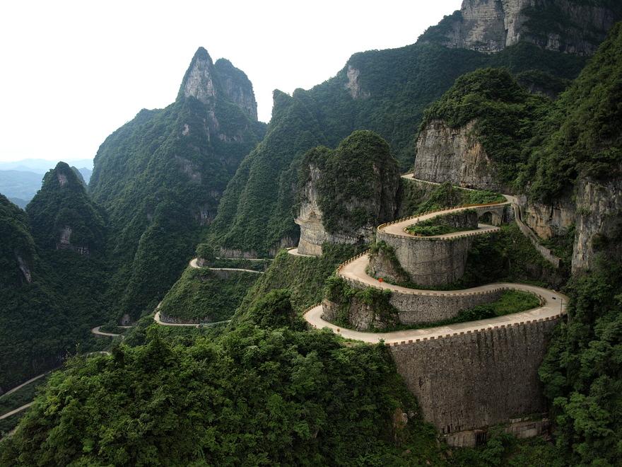 La route Tianmen en Chine