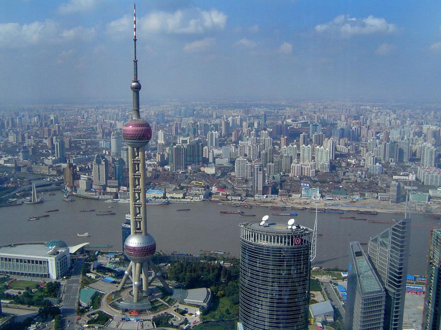 La tour Oriental Pearl à Shanghai