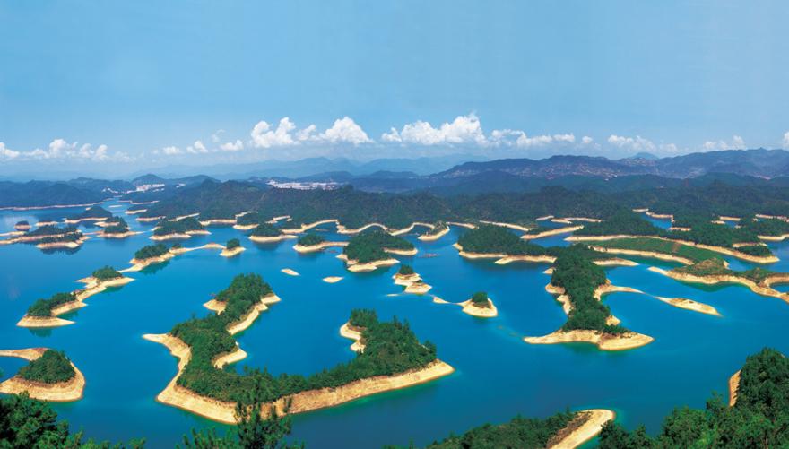 Le lac aux milles iles en Chine