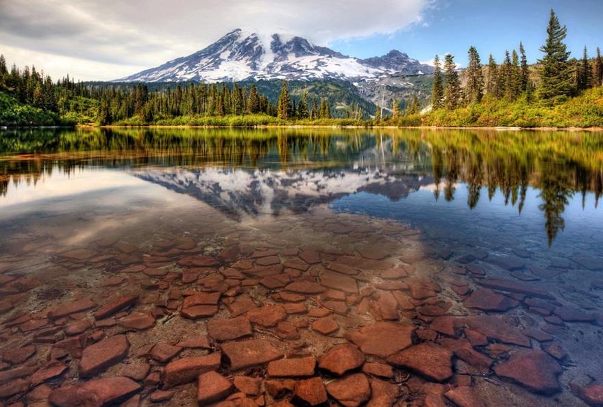 Le lac Bench  à Washington aux Etats-Unis