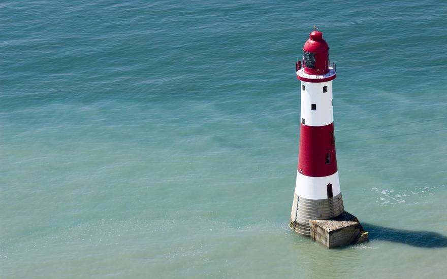 Le phare Beachy Head en Angleterre