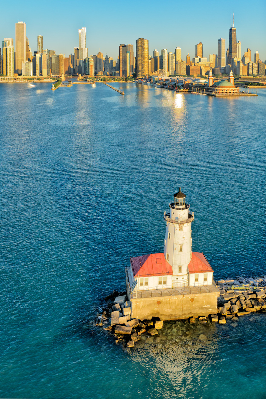 Le phare Chicago Harbor, USA