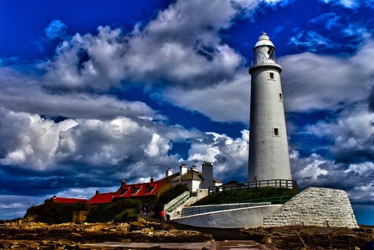 Le phare de St Mary's en Angleterre