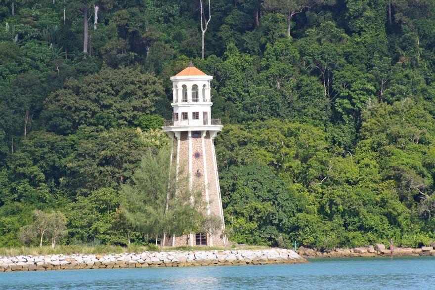 Le phare de Telaga Harbour, Malaisie