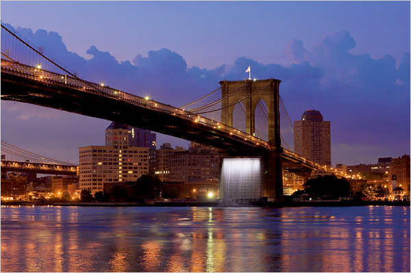 Le pont de Brooklyn à New York