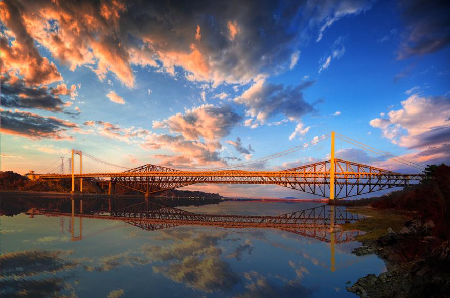 Le pont de Québec au Canada
