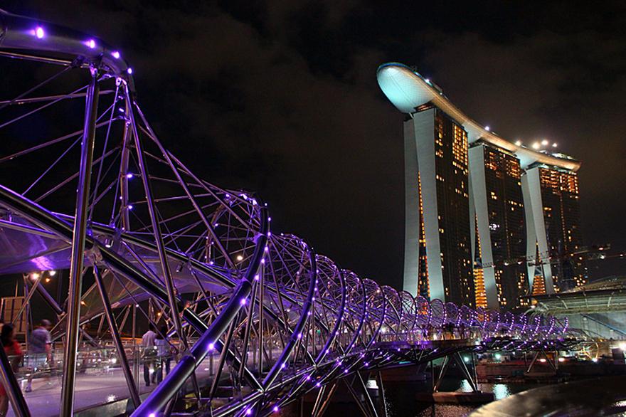 Le pont Helix - Singapour