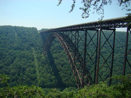 Le pont New River aux États-Unis