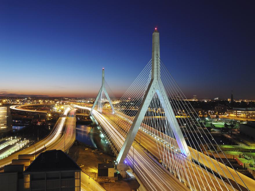 Le pont Zakim Bunker Hill à Boston