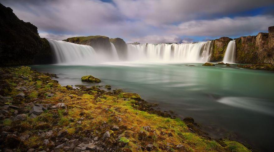 Les chutes de Godafoss en Islande