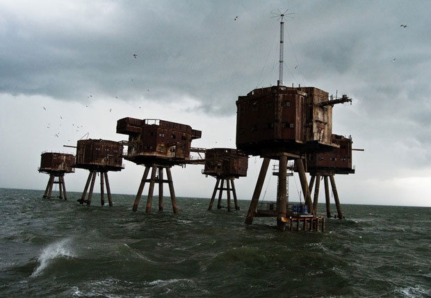 Les forts de la mer Maunsell en Angleterre