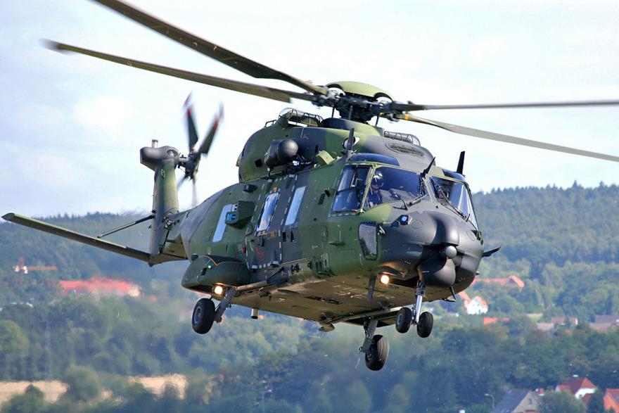 L'hélicoptère de transport NH90 TTH allemand