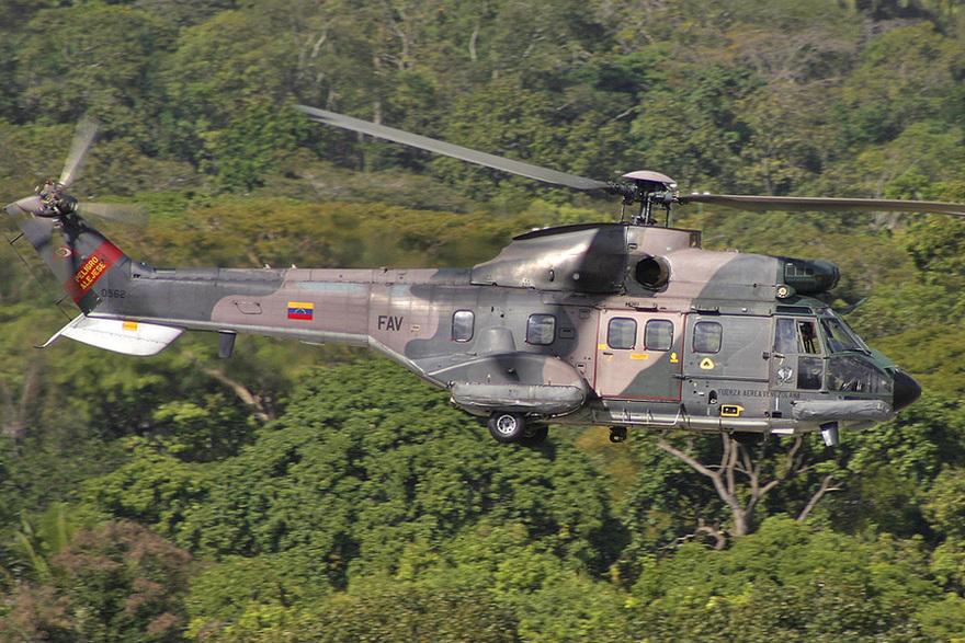 L'hélicoptère AS532 Cougar de l'armée vénézuélienne