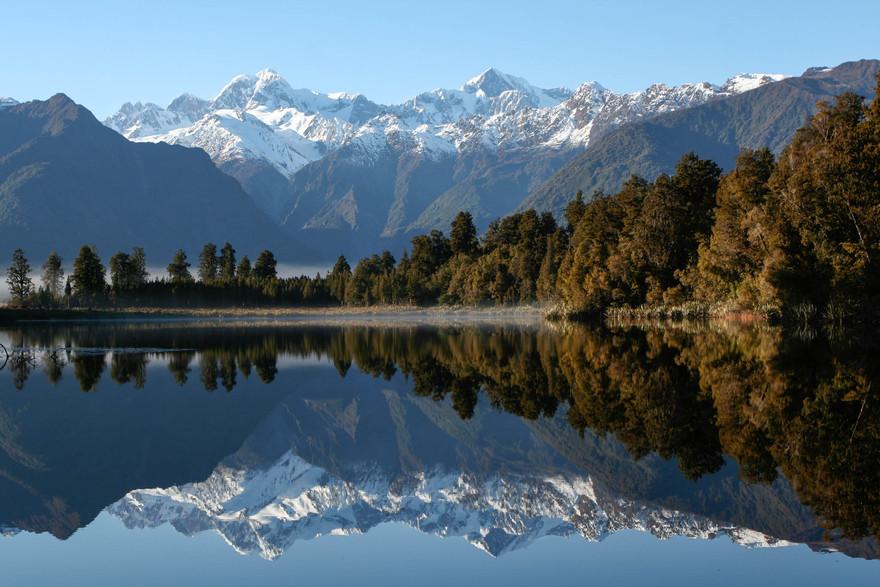 Le lac Matheson en Nouvelle Zélande