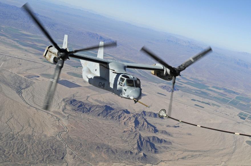 Hélicoptère à rotors basculants V22 Osprey