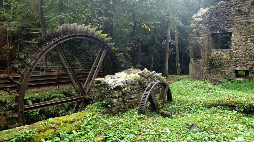 Un moulin abandonné en France
