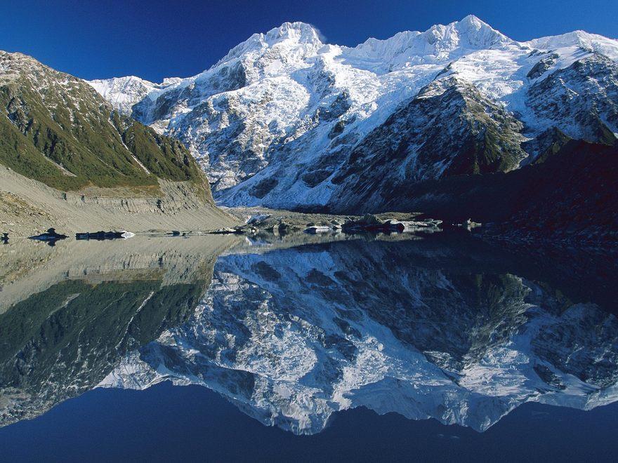 Le mont Cook en Nouvelle-Zélande