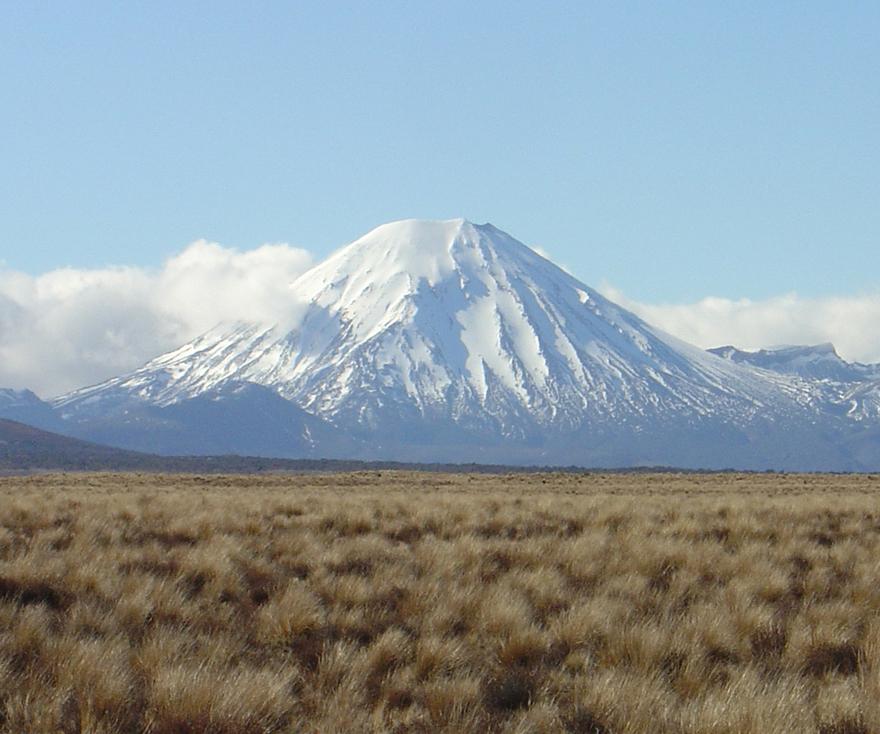 Le mont Ngauruhoe en Nouvelle-Zélande.