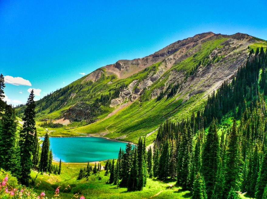 Le lac Emerald dans le Colorado – USA
