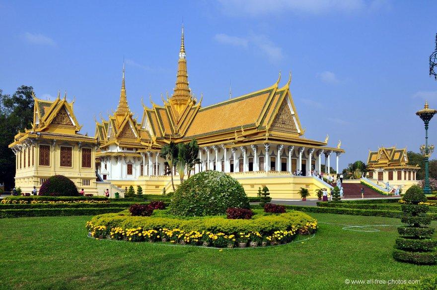 Palais royal au Cambodge