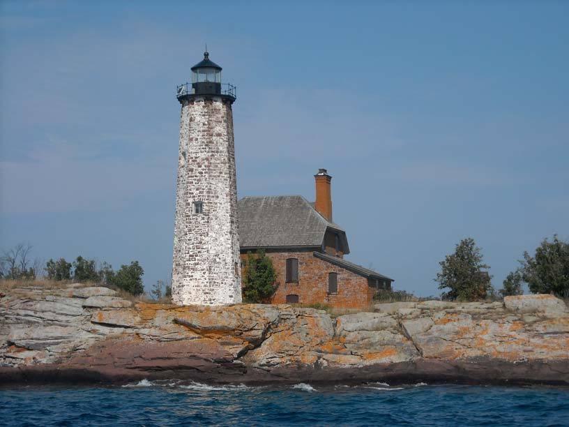 Phare de l'ile Royale, Michigan, USA