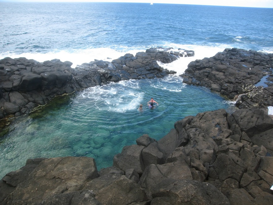 Piscine naturelle Queen's Bath à Hawaï