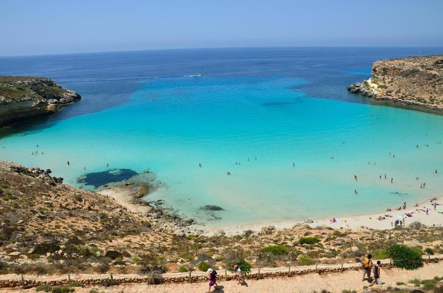 Plage Rabbit, Lampedusa en Italie