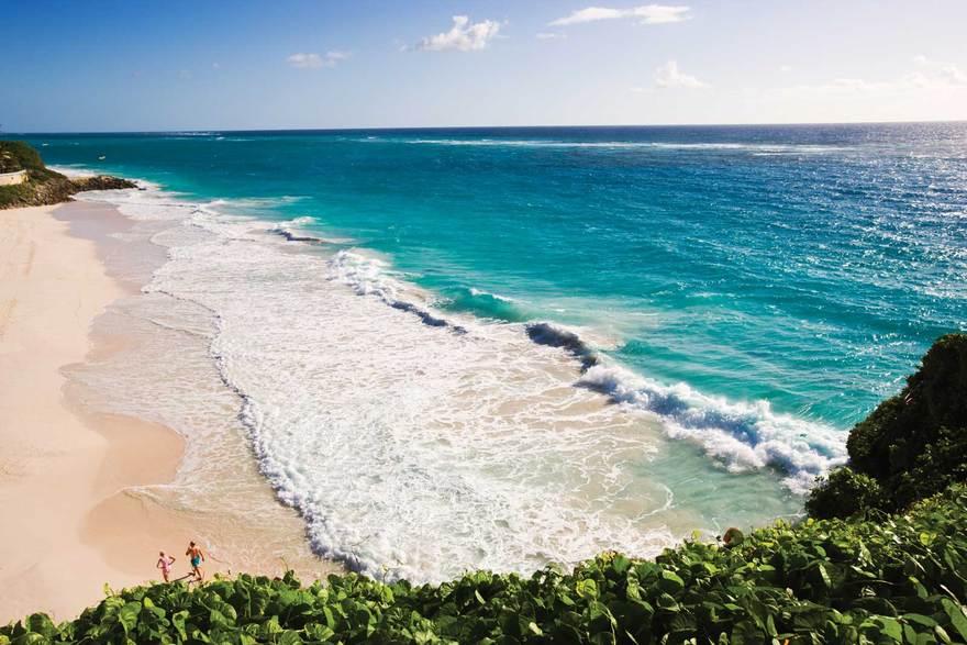 Plage de sables à la Barbade