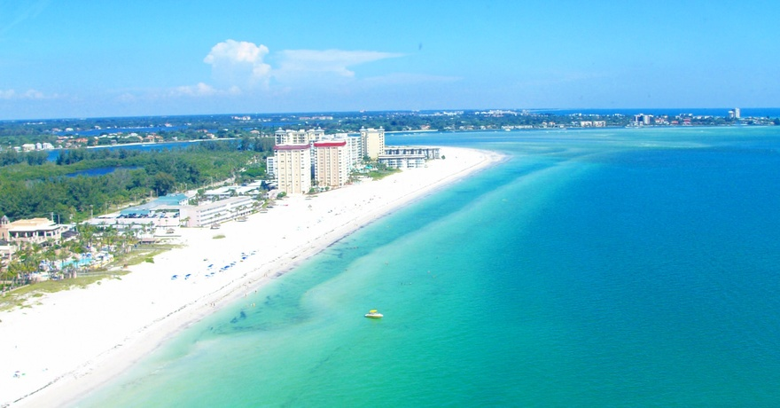 Plage de Siesta Key en Floride