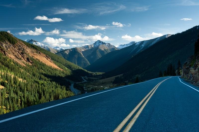 Route 550 dans le Colorado, USA